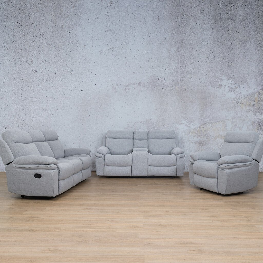 Tinetto Fabric Recliner Couches | 3-2-1 Seater Couches | Chromium Grey | Couches For Sale | Leather Gallery Couches