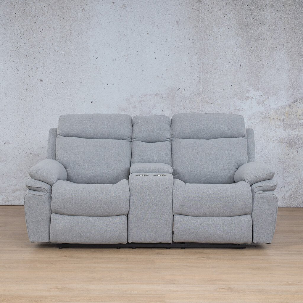Tinetto Fabric Recliner Couch | 2 Seater Couch | Chromium Grey | Couches For Sale | Leather Gallery Couches