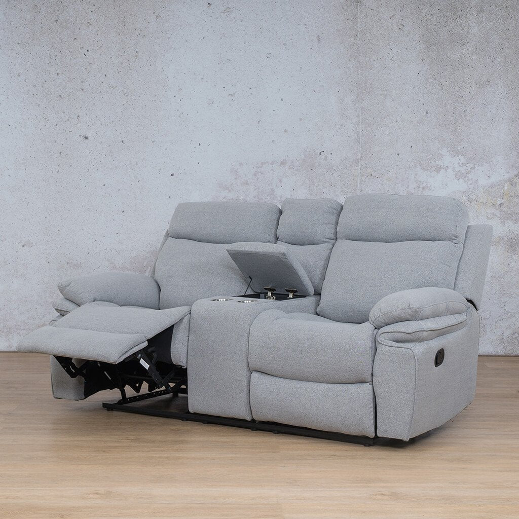 Tinetto Fabric Recliner Couch | 2 Seater Couch | Chromium Grey | Front Angled | Couches For Sale | Leather Gallery Couches
