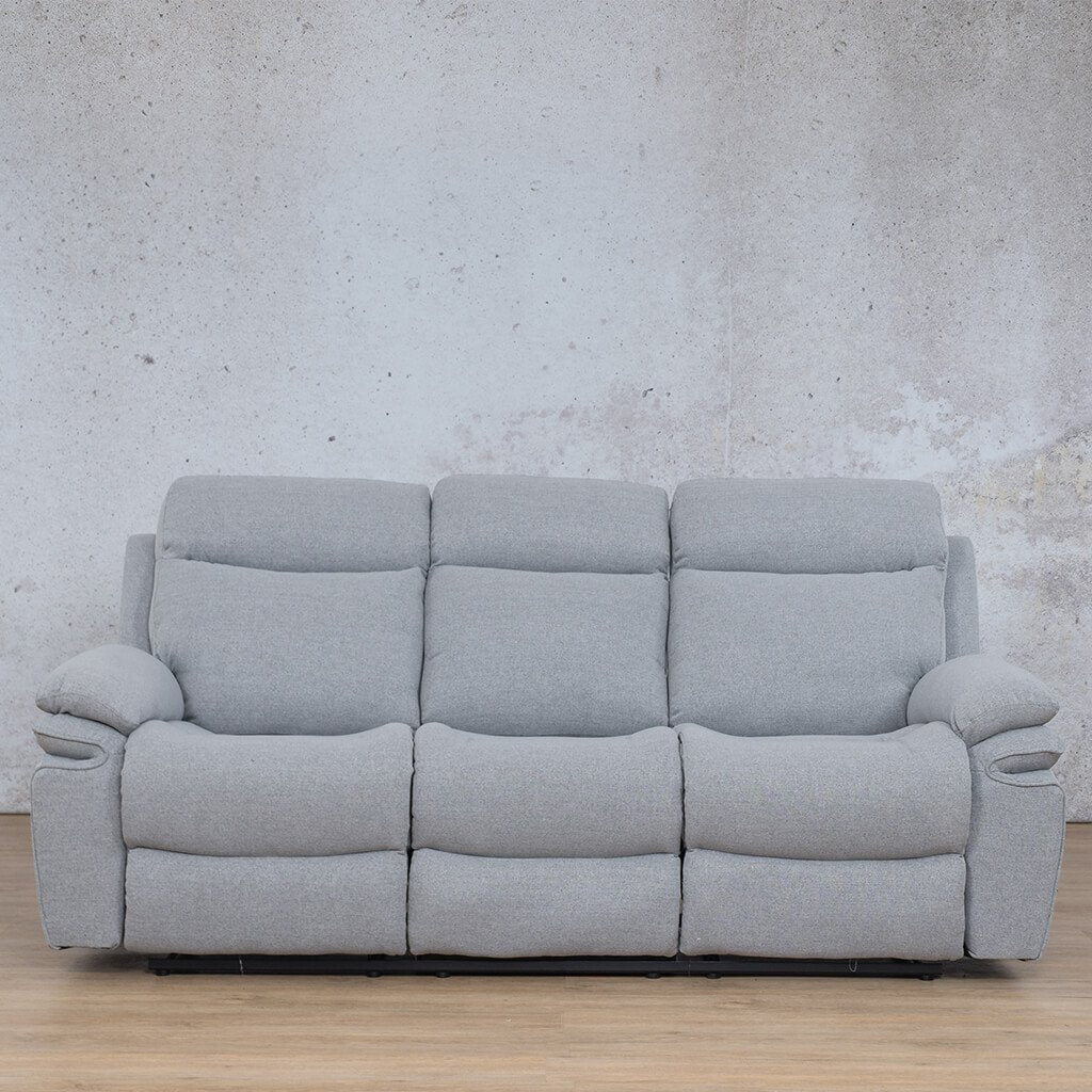 Tinetto Fabric Recliner Couch | 3 Seater Couch | Chromium Grey | Couches For Sale | Leather Gallery Couches