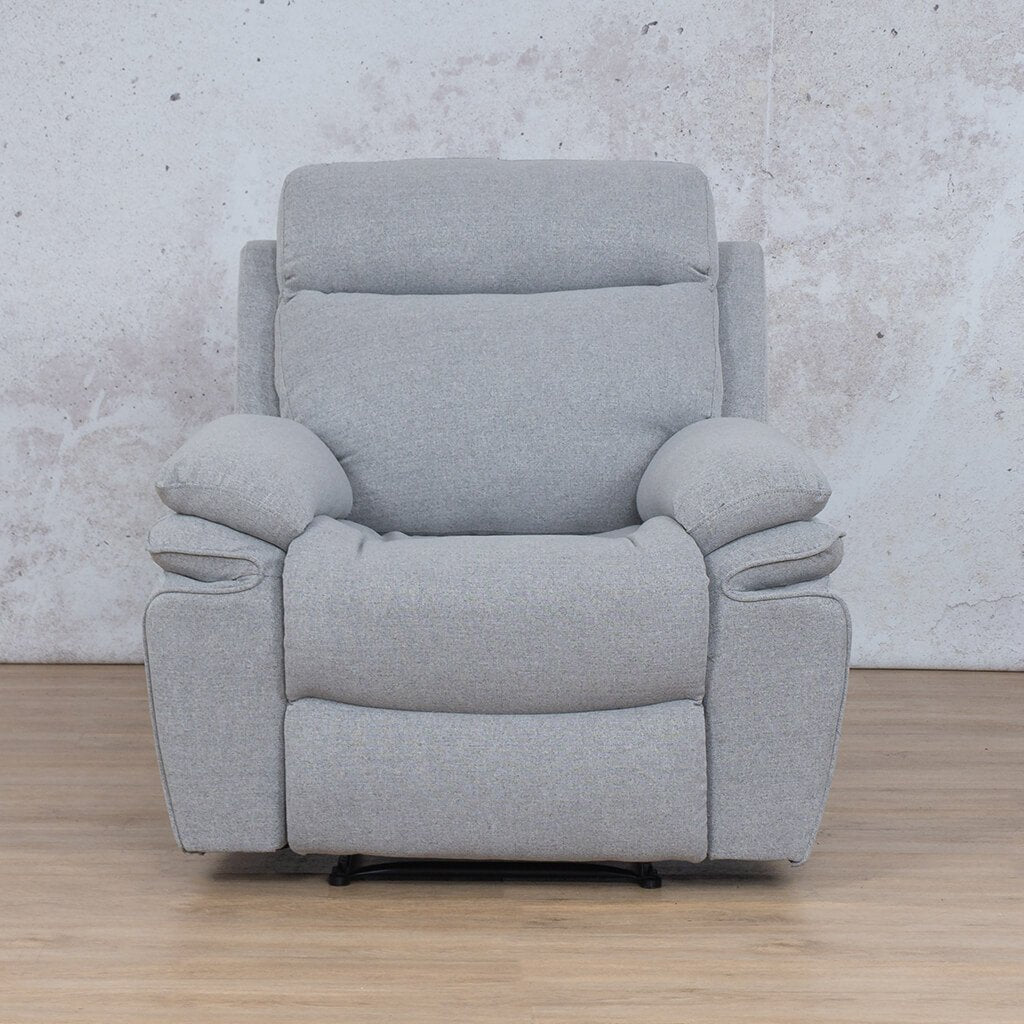 Tinetto Fabric Recliner Couch | 1 Seater Couch | Chromium Grey | Couches For Sale | Leather Gallery Couches