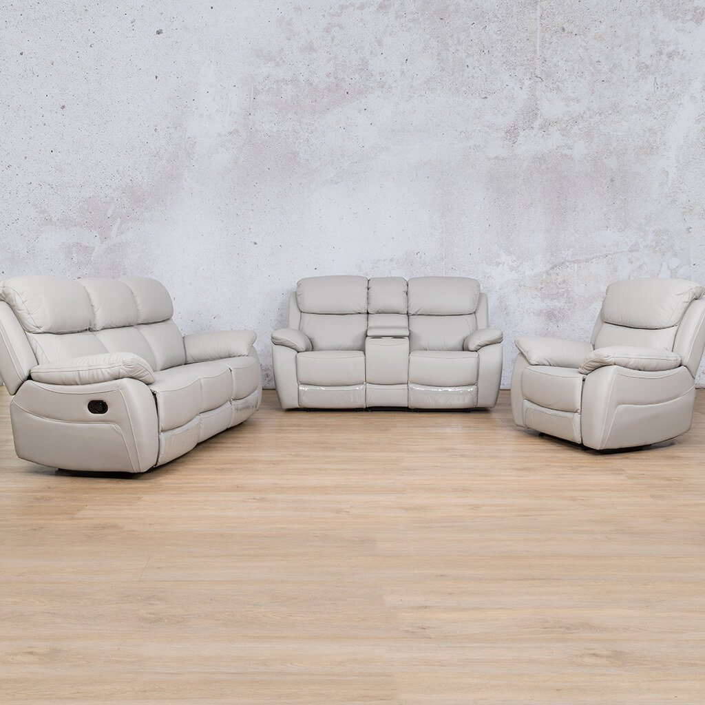 Lexington Leather Recliner Couches | 3-2-1 Seater Home Theatre | Grey-Lex | Couches For Sale | Leather Gallery Couches