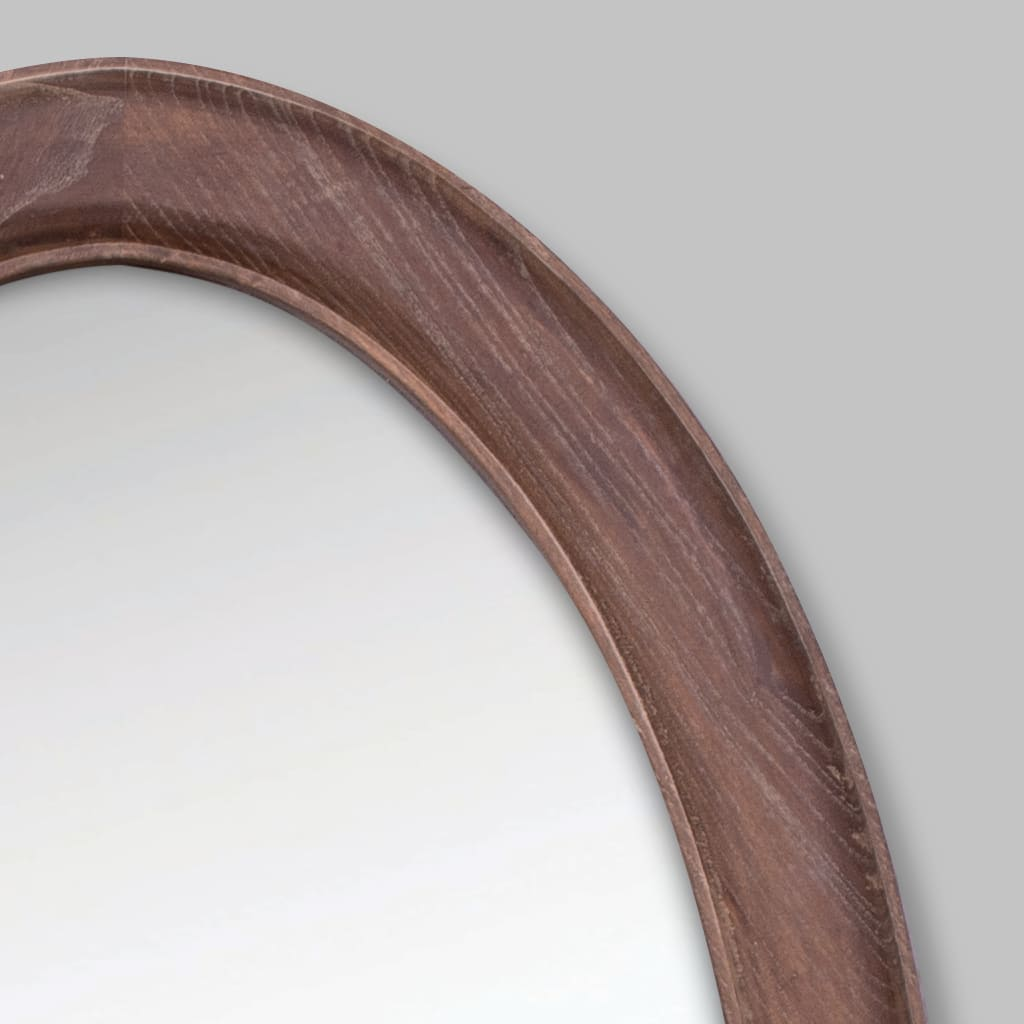 Liam Oval Antique Coffee Mirror