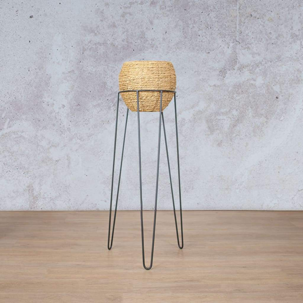 Planter | Luca Standing Basket | Leather Gallery