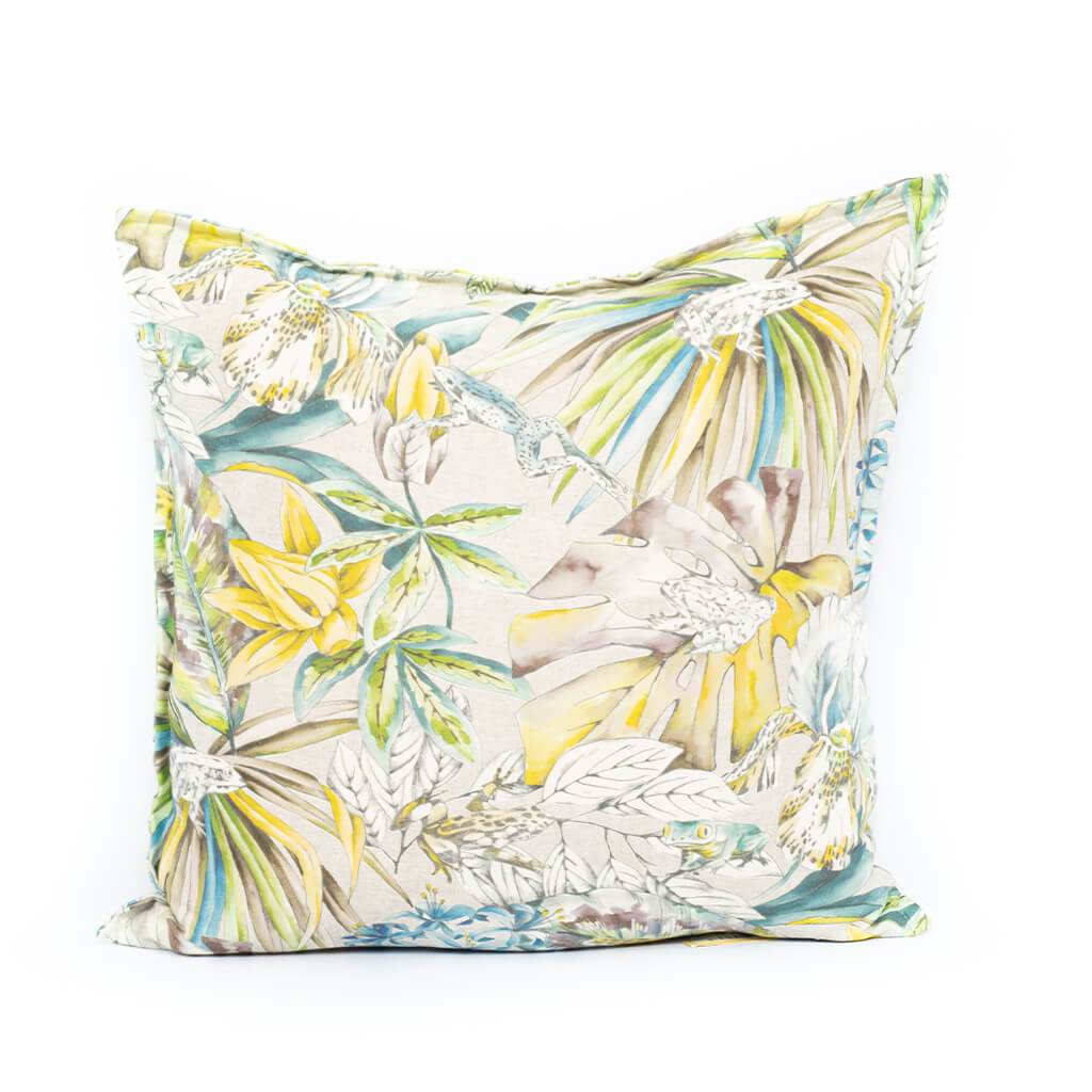 Midnight Gardens Rana Linen Cushion | Leather Gallery