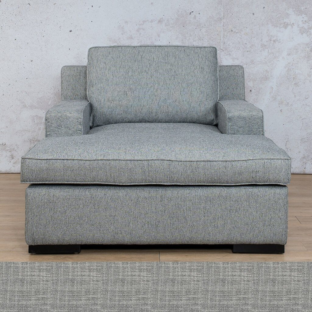 Arizona Fabric | 2 Arm Chaise | Mirage Grey | Leather Gallery