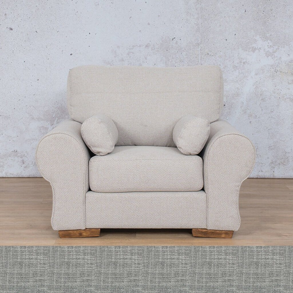 Carolina Fabric Couch | 1 seater couch | Mirage Grey | Couches for Sale | Leather Gallery Couches