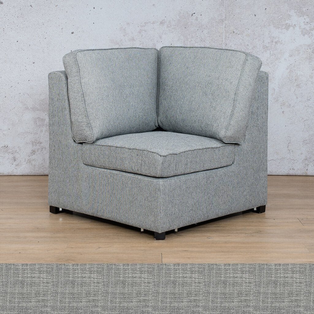 Arizona Fabric | Corner | Mirage Grey | Leather Gallery