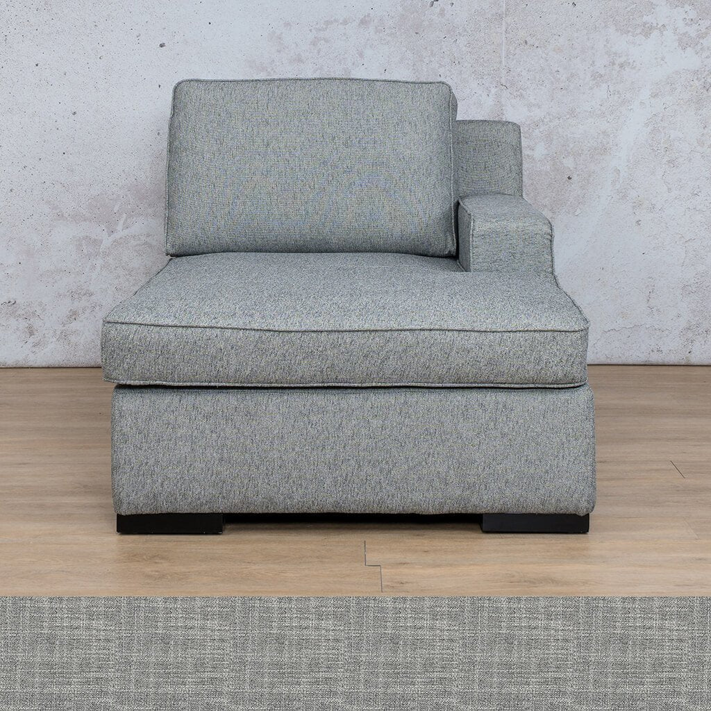 Arizona Fabric | Left Arm Chaise | Mirage Grey | Leather Gallery