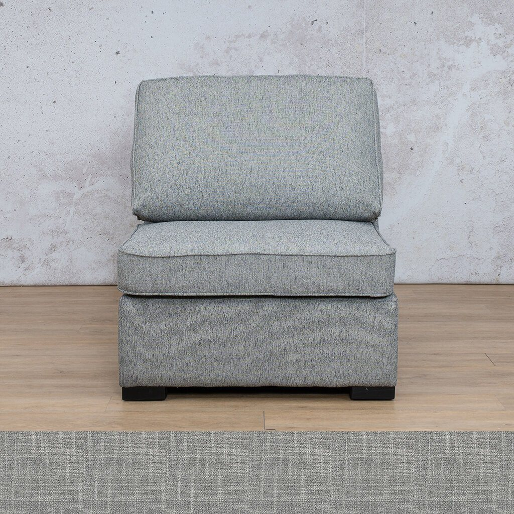 Arizona Fabric | Armless Chair | Mirage Grey | Leather Gallery