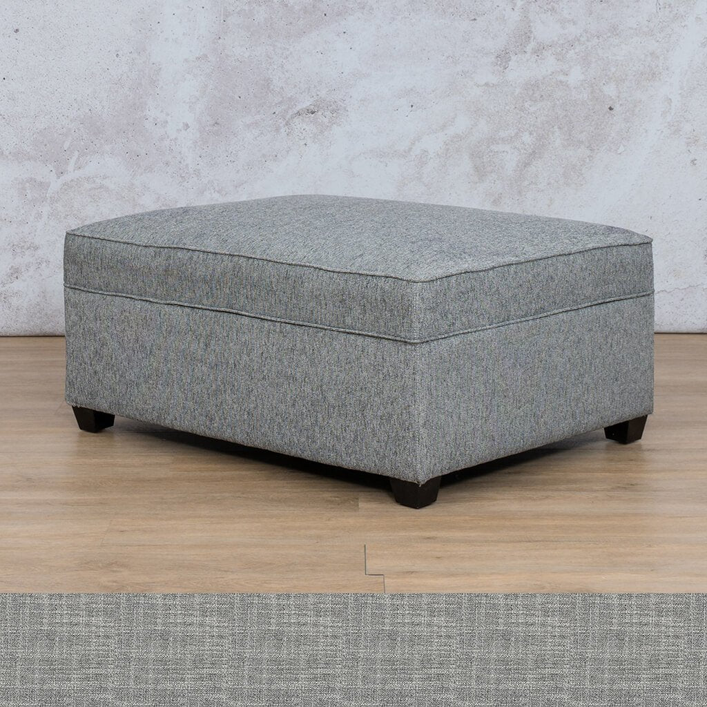 Arizona Fabric | Ottoman | Mirage Grey | Leather Gallery