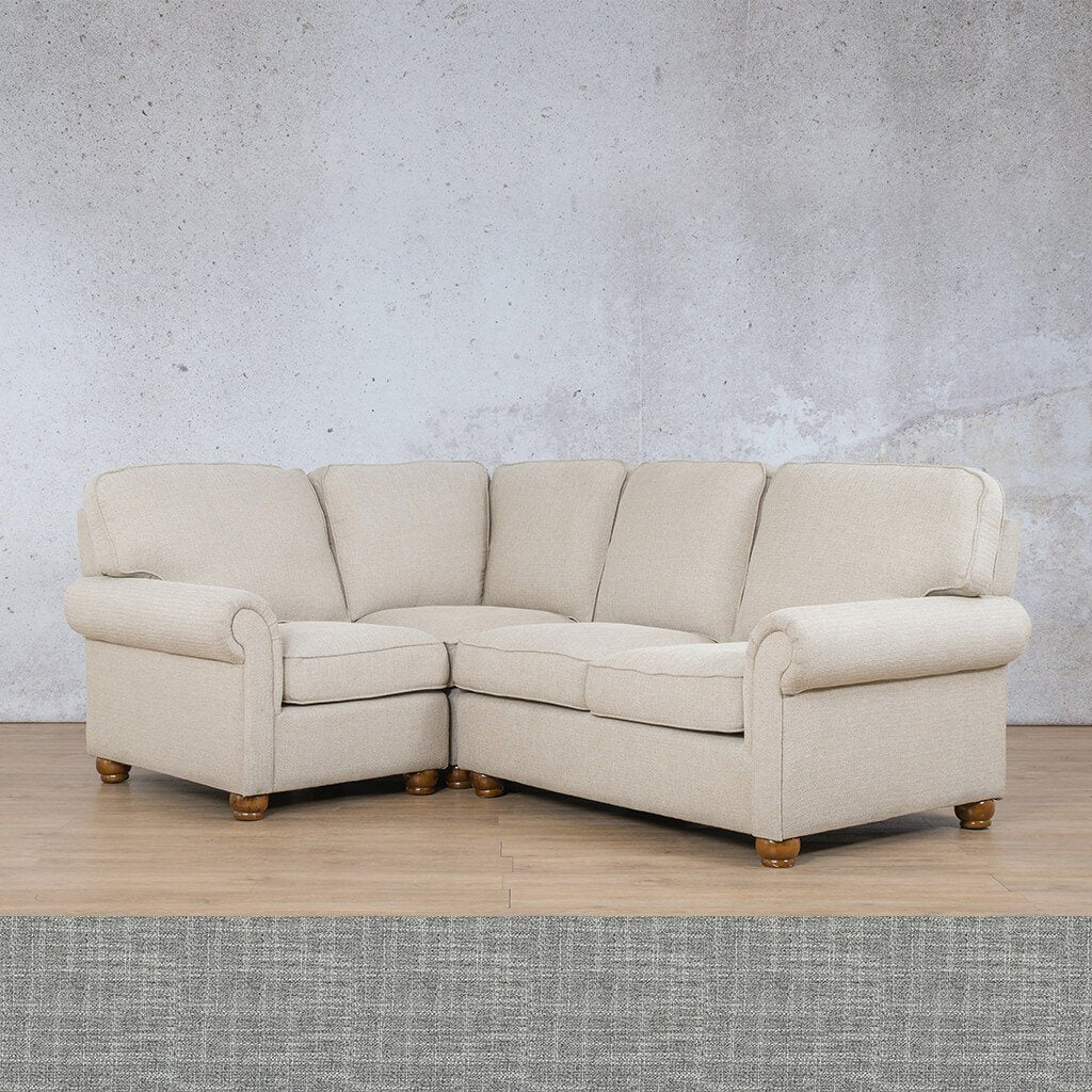 Salisbury Fabric L-Sectional 4 Seater - LHF