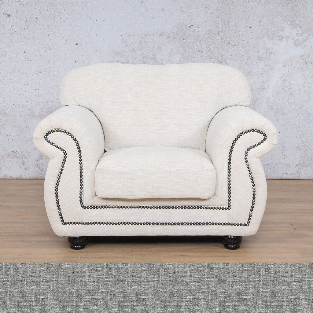 Isilo Fabric sofa suite | 1 Seater Couch  | Couches for Sale| Mirage Grey | Leather Gallery Couches