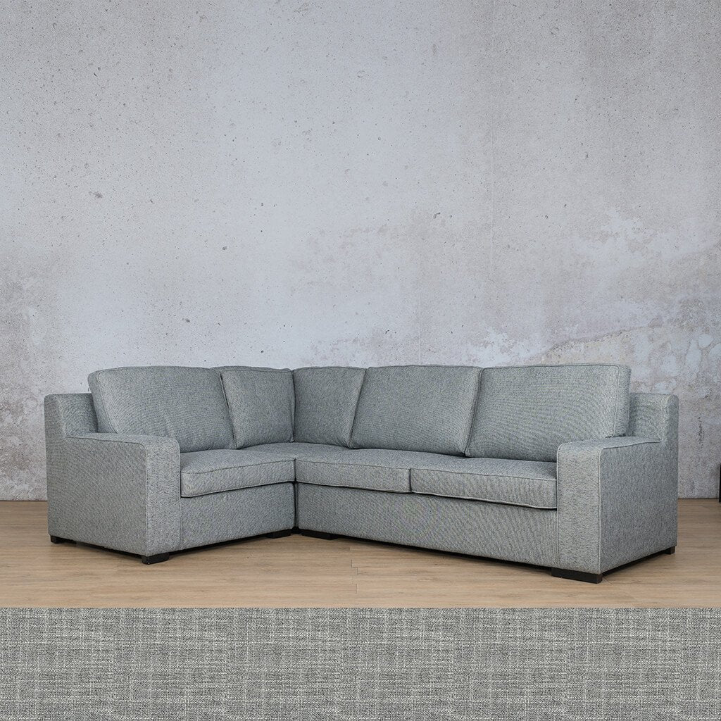 Arizona Fabric | L-Sectional 4 Seater LHF | Mirage Grey | Leather Gallery
