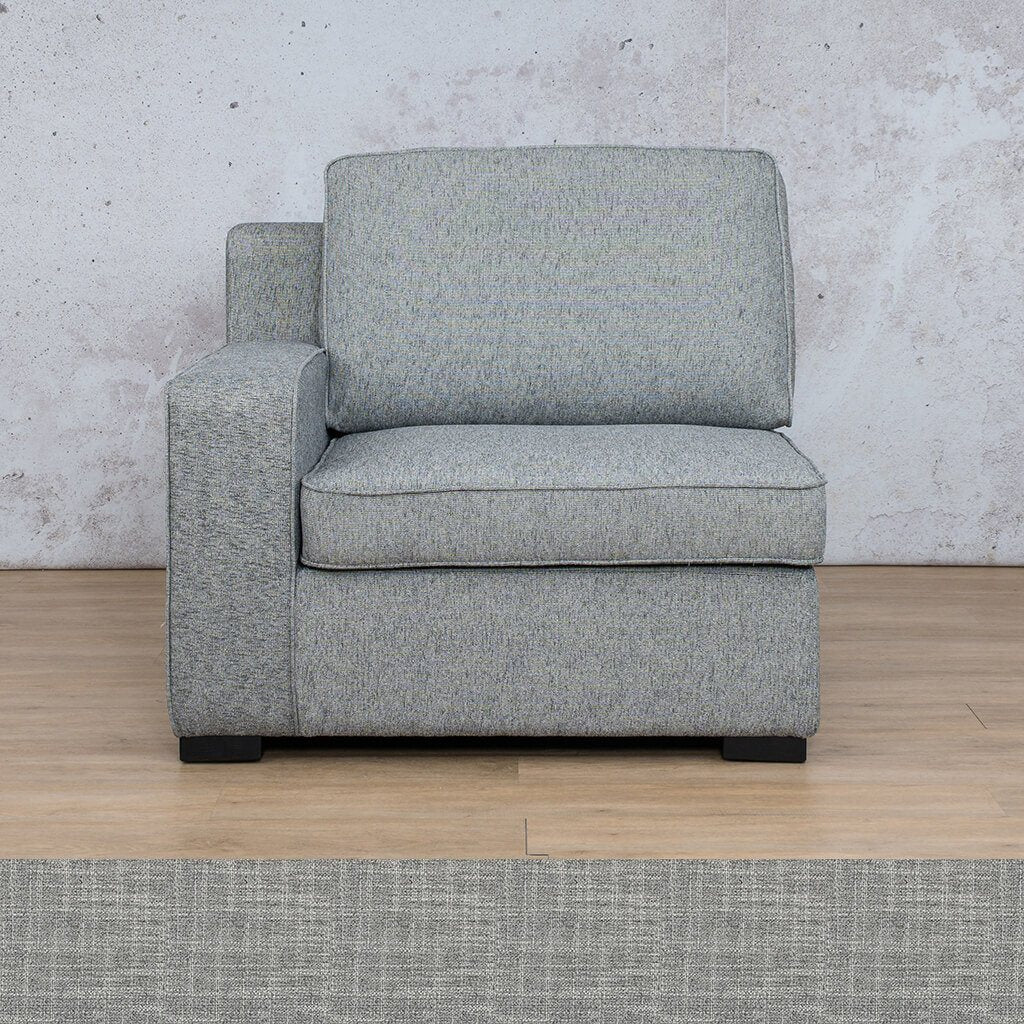Arizona Fabric | 1 Seater Right Arm | Dapple | Leather Gallery