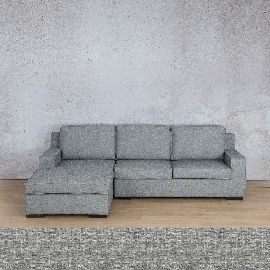 Arizona Fabric | Sofa Chaise LHF | Mirage Grey | Leather Gallery