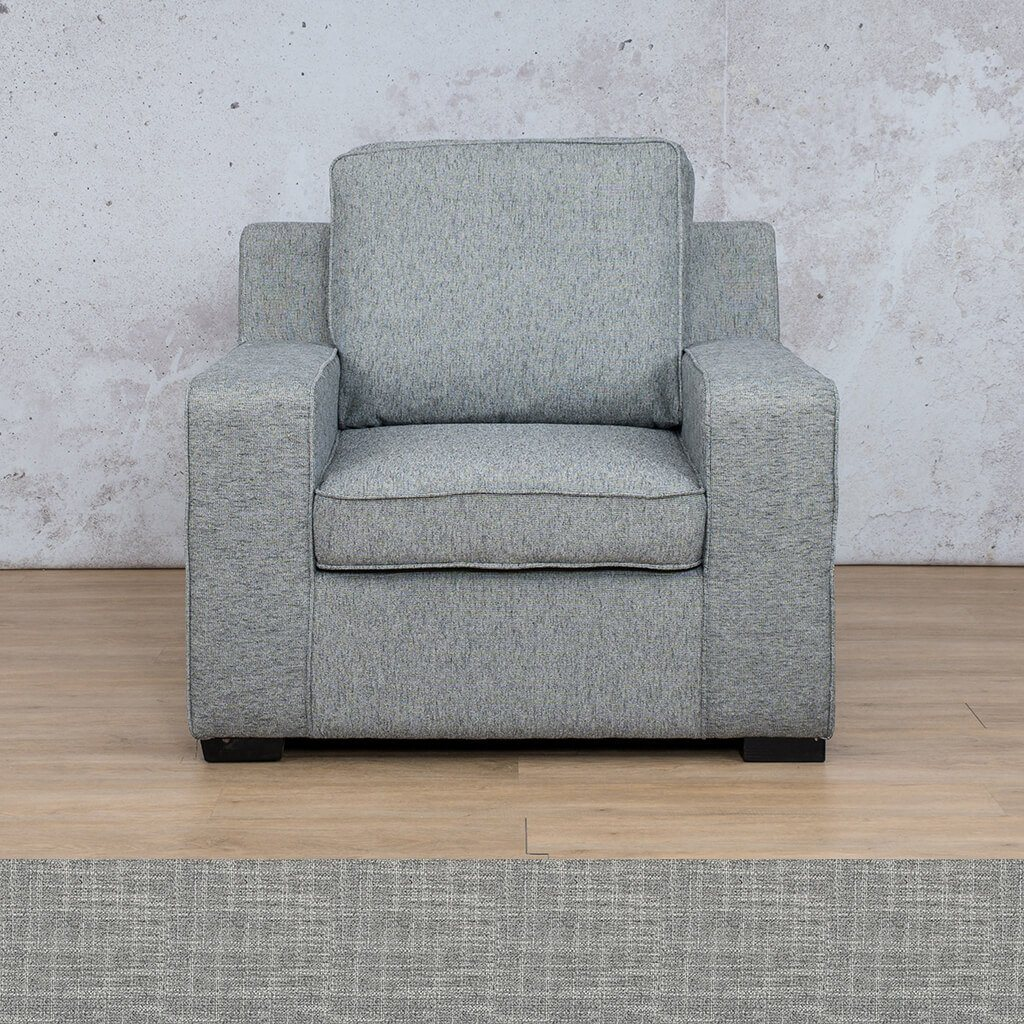 Arizona Fabric | 1 Seater | Mirage Grey | Leather Gallery