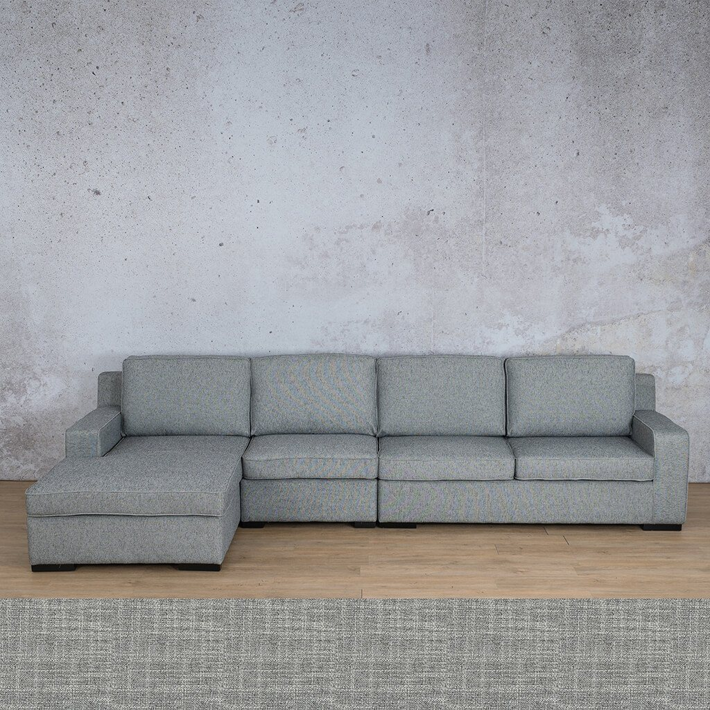 Arizona Fabric | Sofa Chaise Modular LHF | Mirage Grey | Leather Gallery