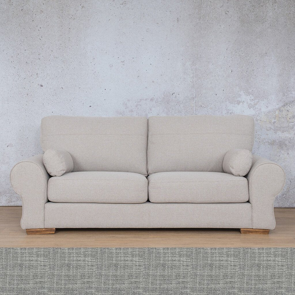 Carolina Fabric Couch | 3 Seater Couch  |  Couches for Sale | Mirage Grey | Leather Gallery Couches