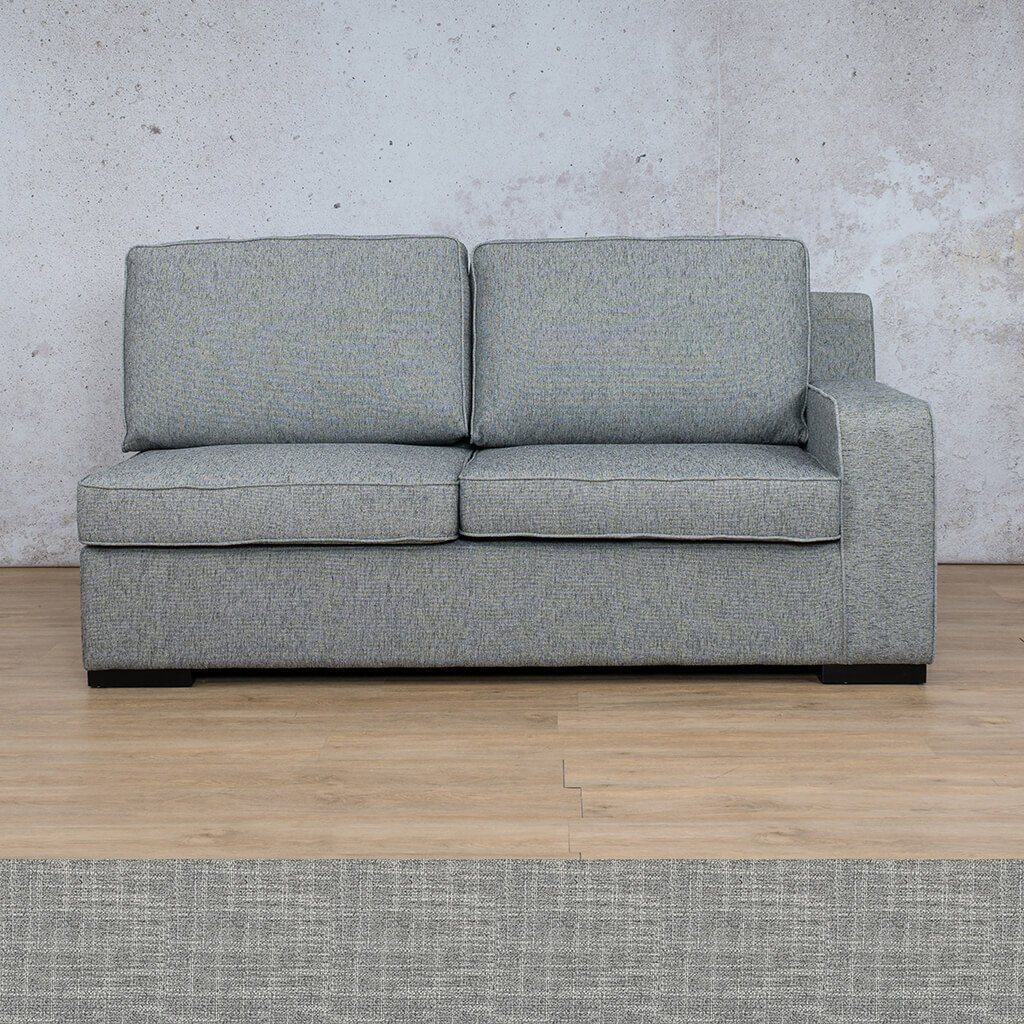 Arizona Fabric | 2 Seater Left Arm | Mirage Grey | Leather Gallery