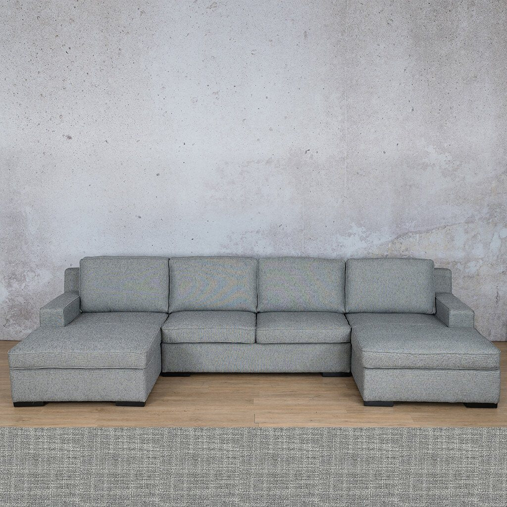 Arizona Fabric | U-Chaise | Mirage Grey | Leather Gallery