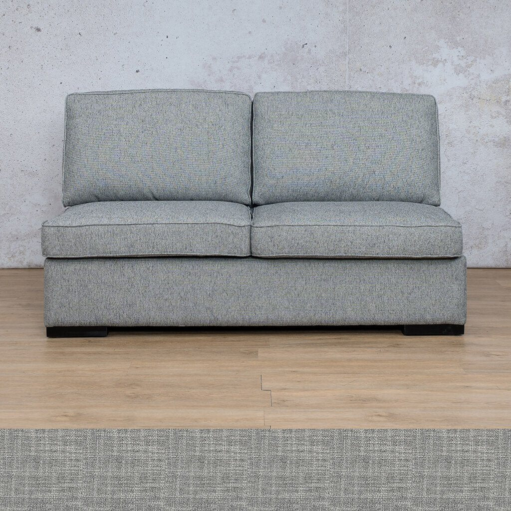 Arizona Fabric | Armless 2 Seater | Mirage Grey | Leather Gallery