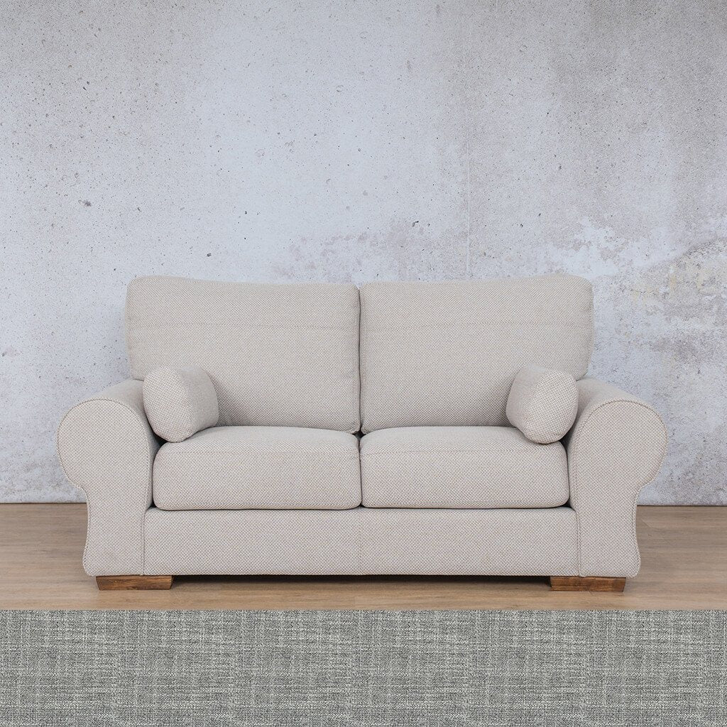 Carolina Fabric Couch | 2 Seater Couch | Couches for Sale | Mirage Grey | Leather Gallery Couches