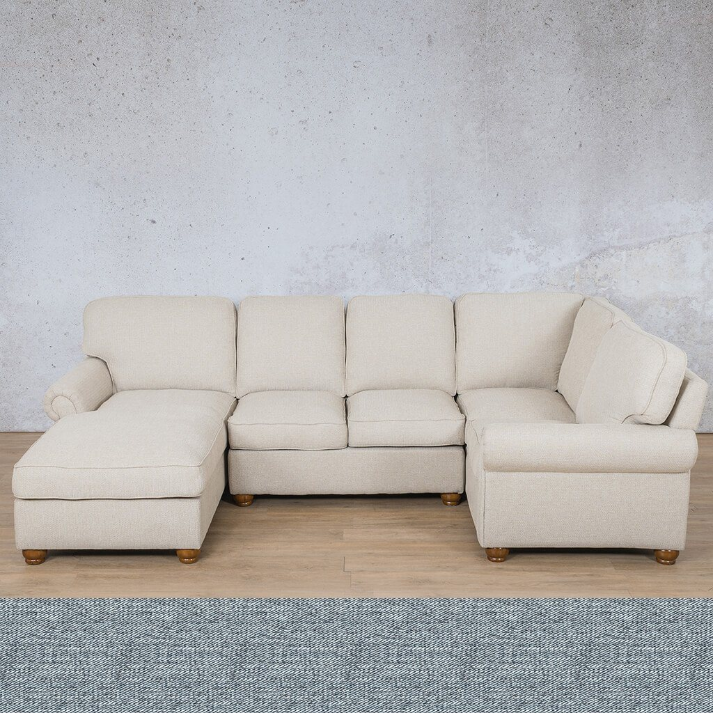 Salisbury Fabric U-Sofa Chaise Sectional - LHF