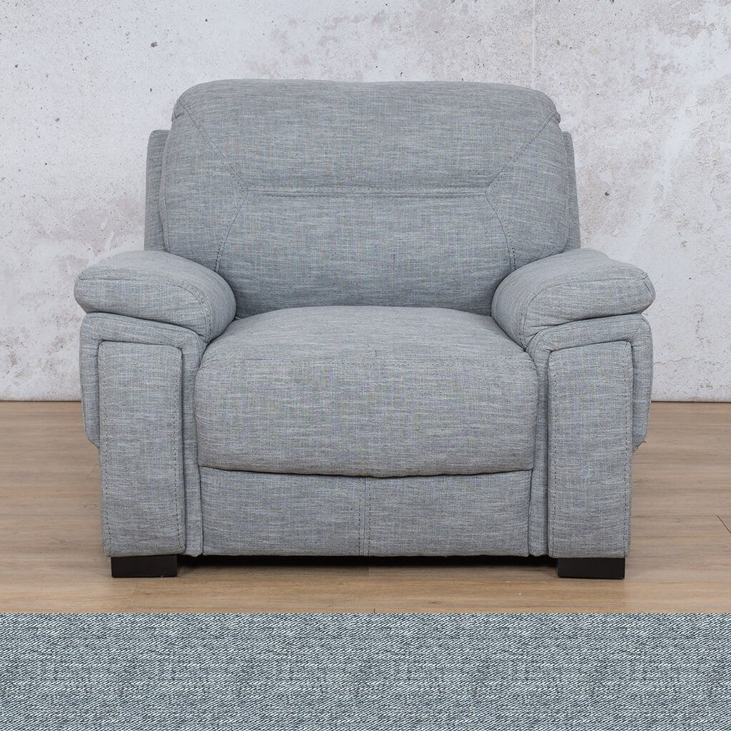 San Lorenze 1 Seater Fabric Sofa