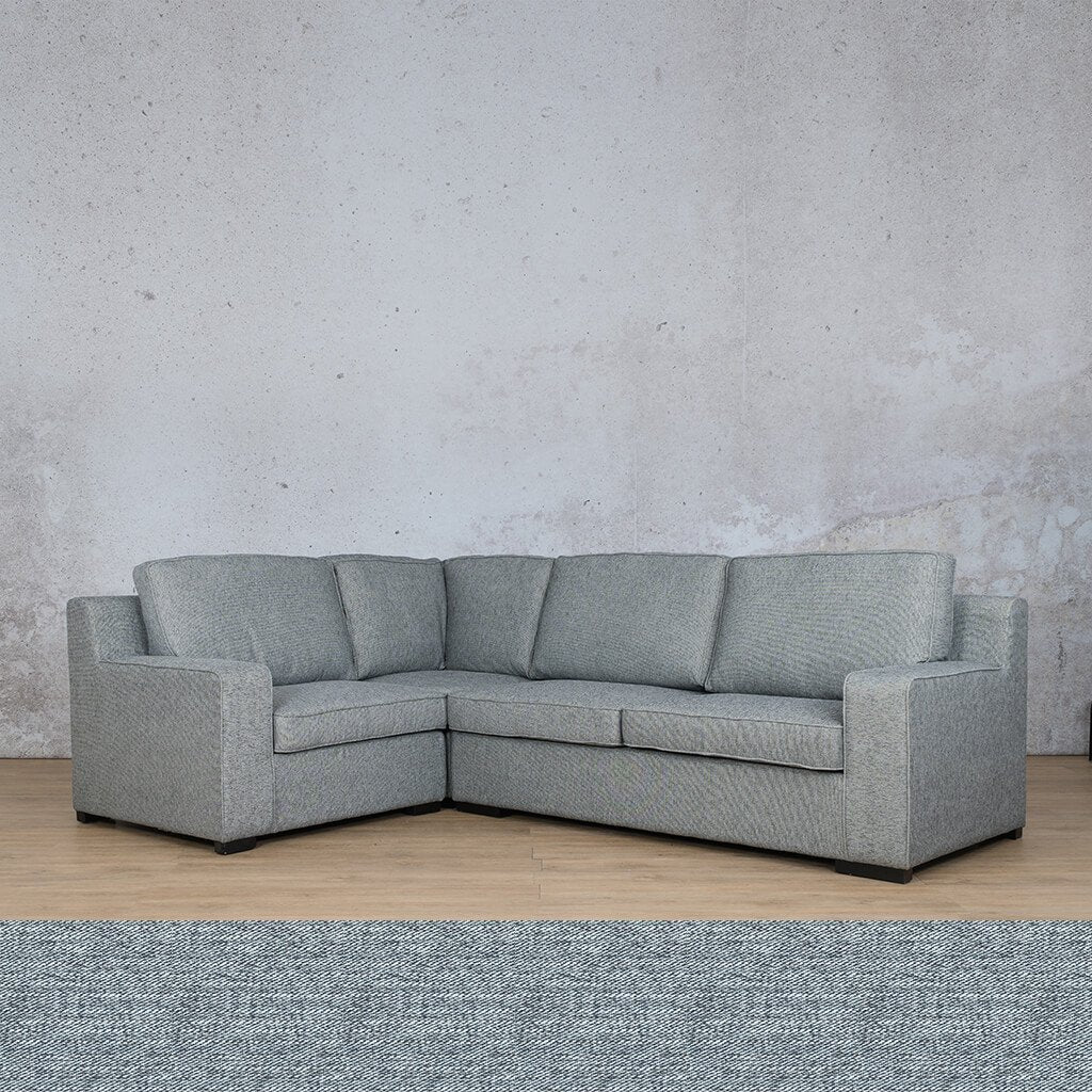 Arizona Fabric | L-Sectional 4 Seater LHF | Navy | Leather Gallery
