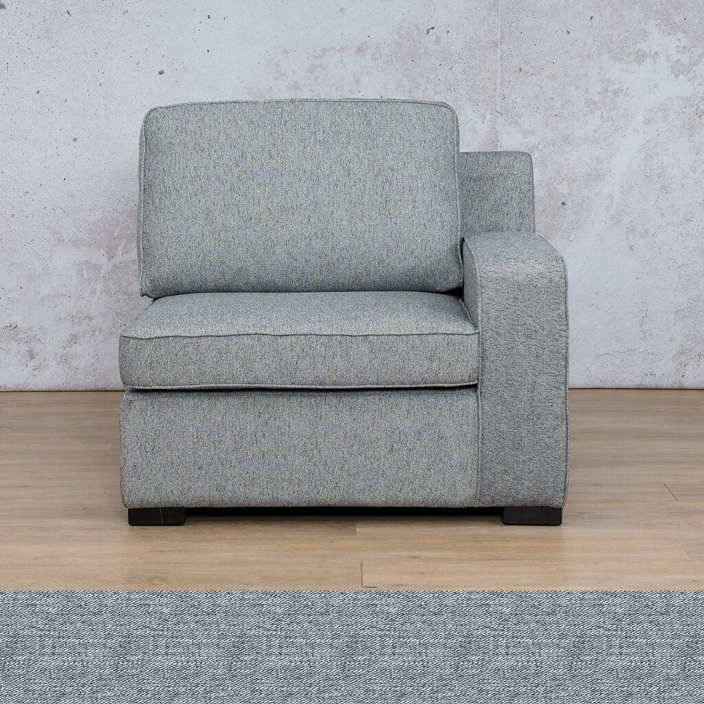 Arizona Fabric | 1 Seater Left Arm | Navy | Leather Gallery