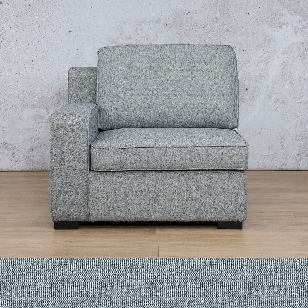 Arizona Fabric | 1 Seater Right Arm | Navy | Leather Gallery