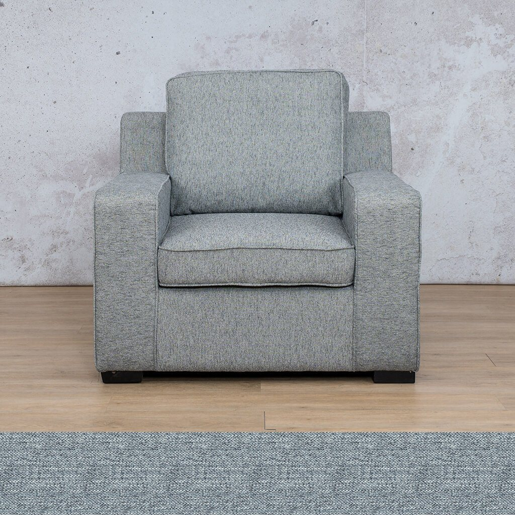 Arizona Fabric | 1 Seater | Navy | Leather Gallery