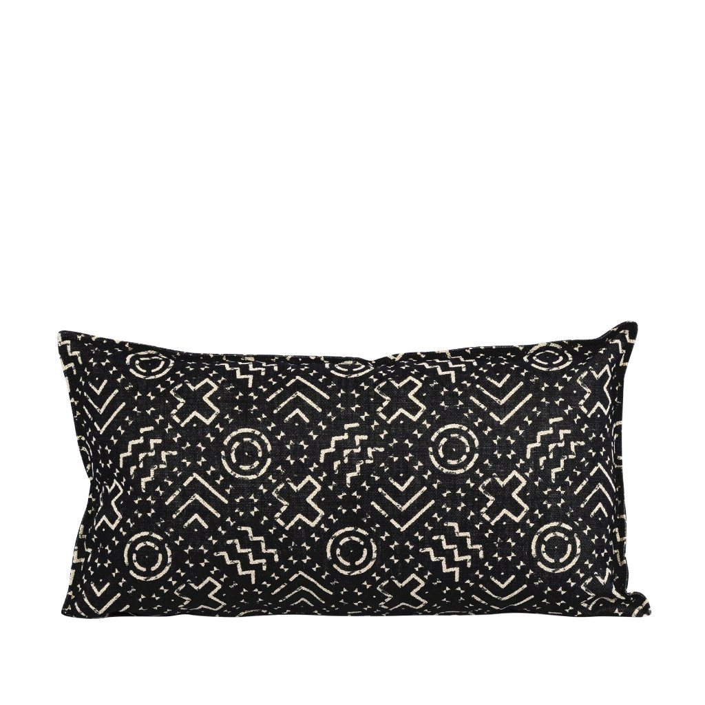 Neema Ebony Bolster Cushion | Leather Gallery