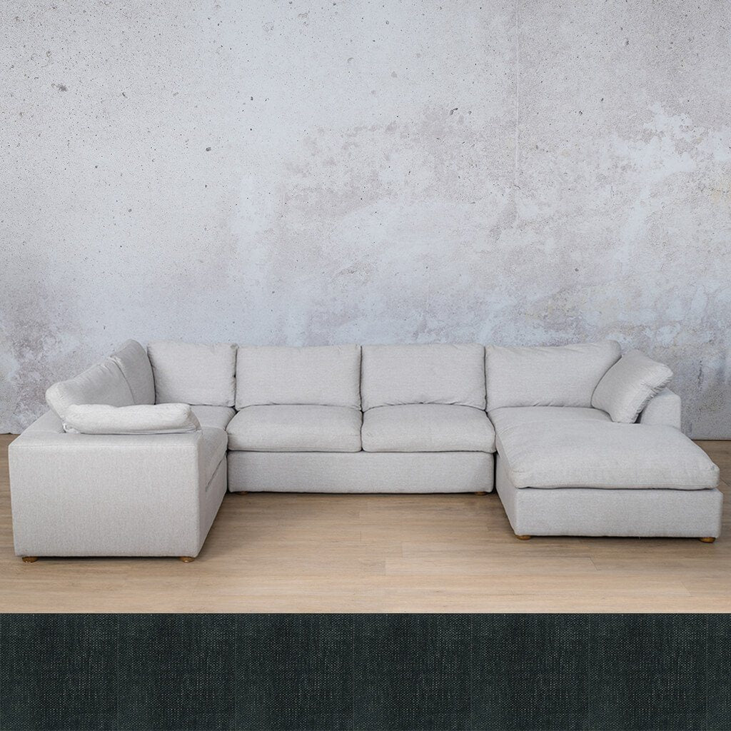 Skye Fabric U-Sofa Chaise Sectional - RHF