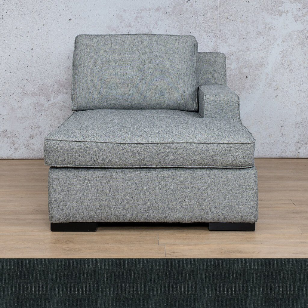Arizona Fabric | Left Arm Chaise | Onyx Black | Leather Gallery