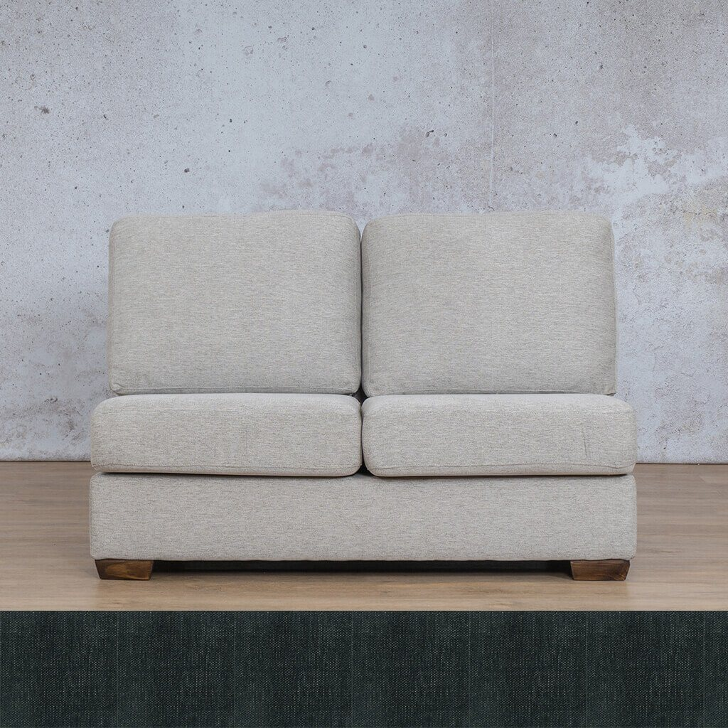 Stanford Fabric Armless 2 Seater