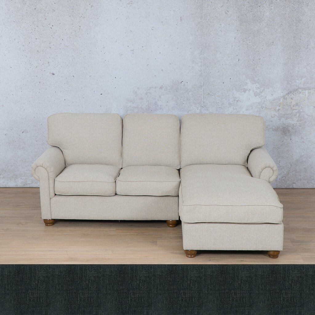 Salisbury Fabric Sofa Chaise Sectional - RHF