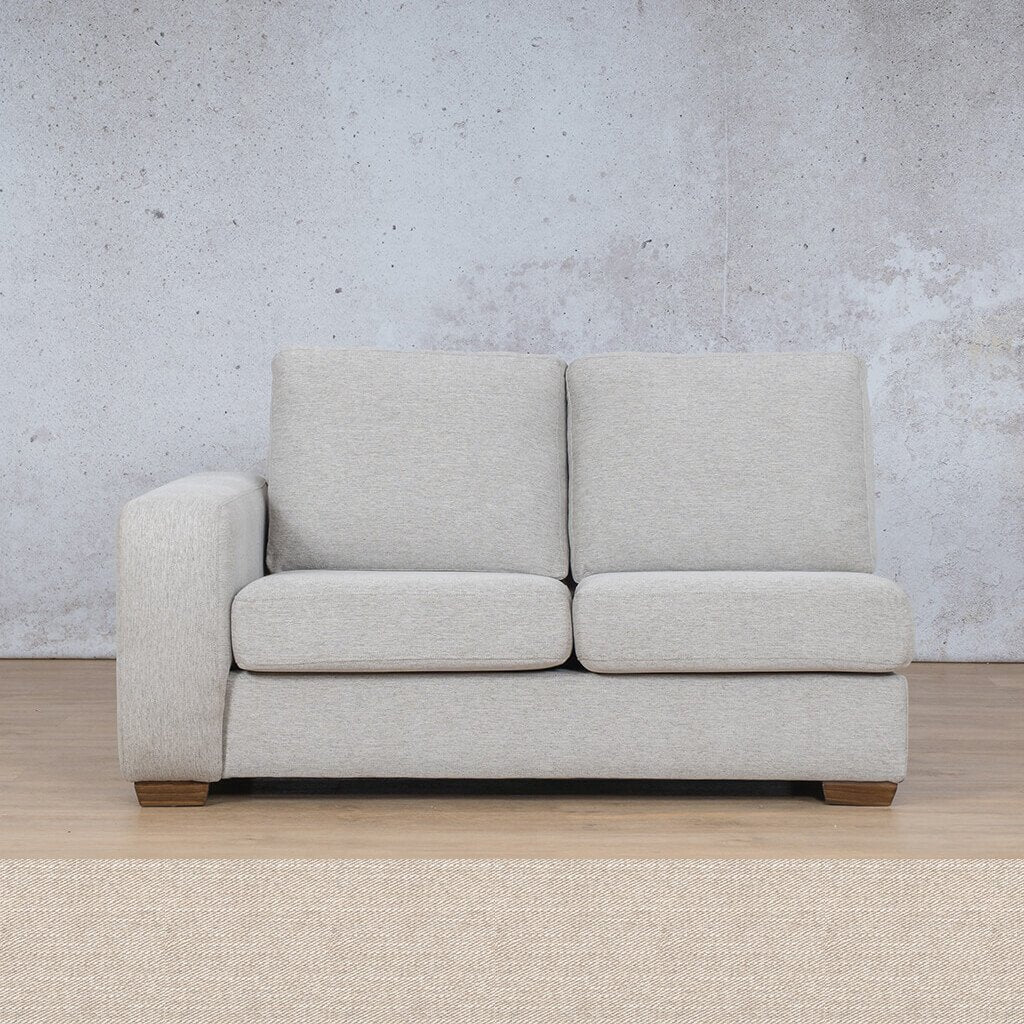 Stanford Fabric Corner Couch | 2 Seater Right Arm | Oyster-A | Couches For Sale | Leather Gallery Couches