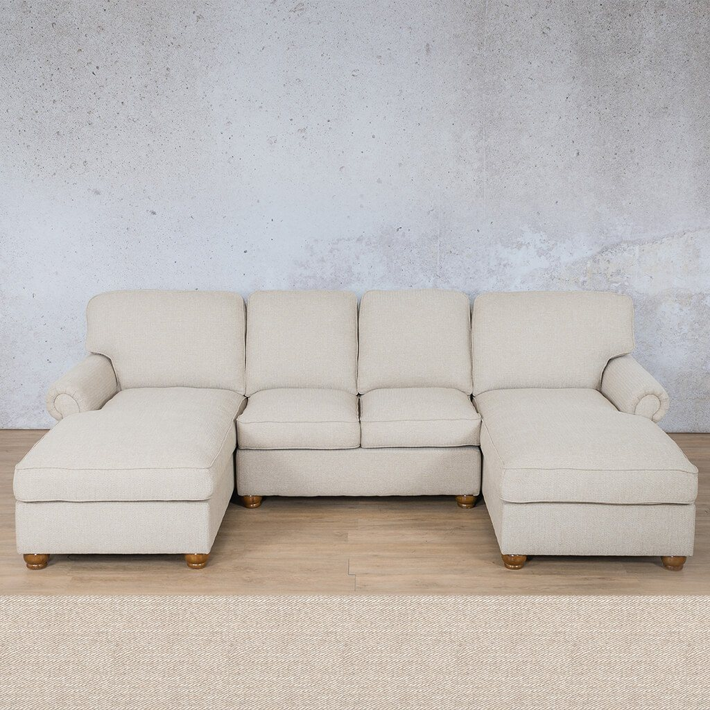 Salisbury Fabric Corner Couch | Customisable Sectional | Oyster | Couches For Sale | Leather Gallery Couches