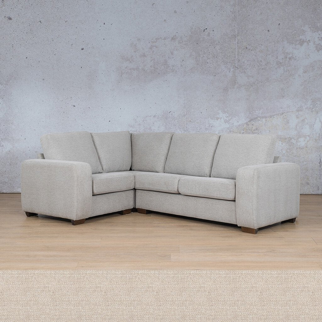 Stanford Fabric Corner Couch | L-Sectional 4 Seater Couch-LHF | Oyster-A | Couches For Sale | Leather Gallery Couches