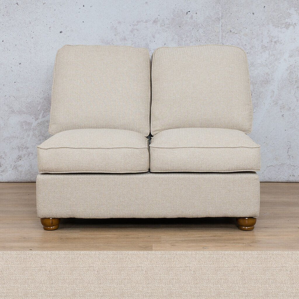 Salisbury Fabric Corner Couch | Armless Chair | 2 Seater Coach | Oyster | Couches For Sale | Leather Gallery Couches