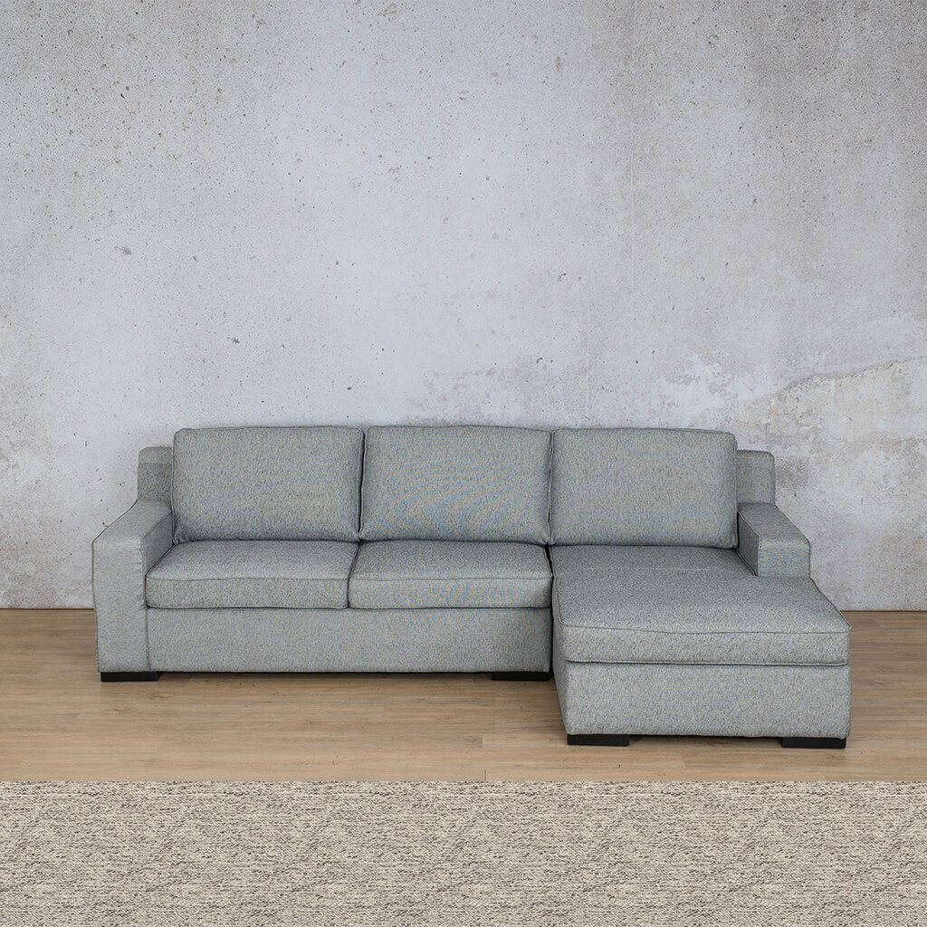 Arizona Fabric Corner Couch | Sofa Sectional-RHF | Pebble | Couches For Sale | Leather Gallery Couches