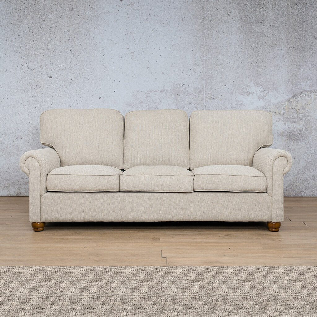 Salisbury Fabric Couch | 3 seater couch | Pebble | Couches for Sale | Leather Gallery Couches