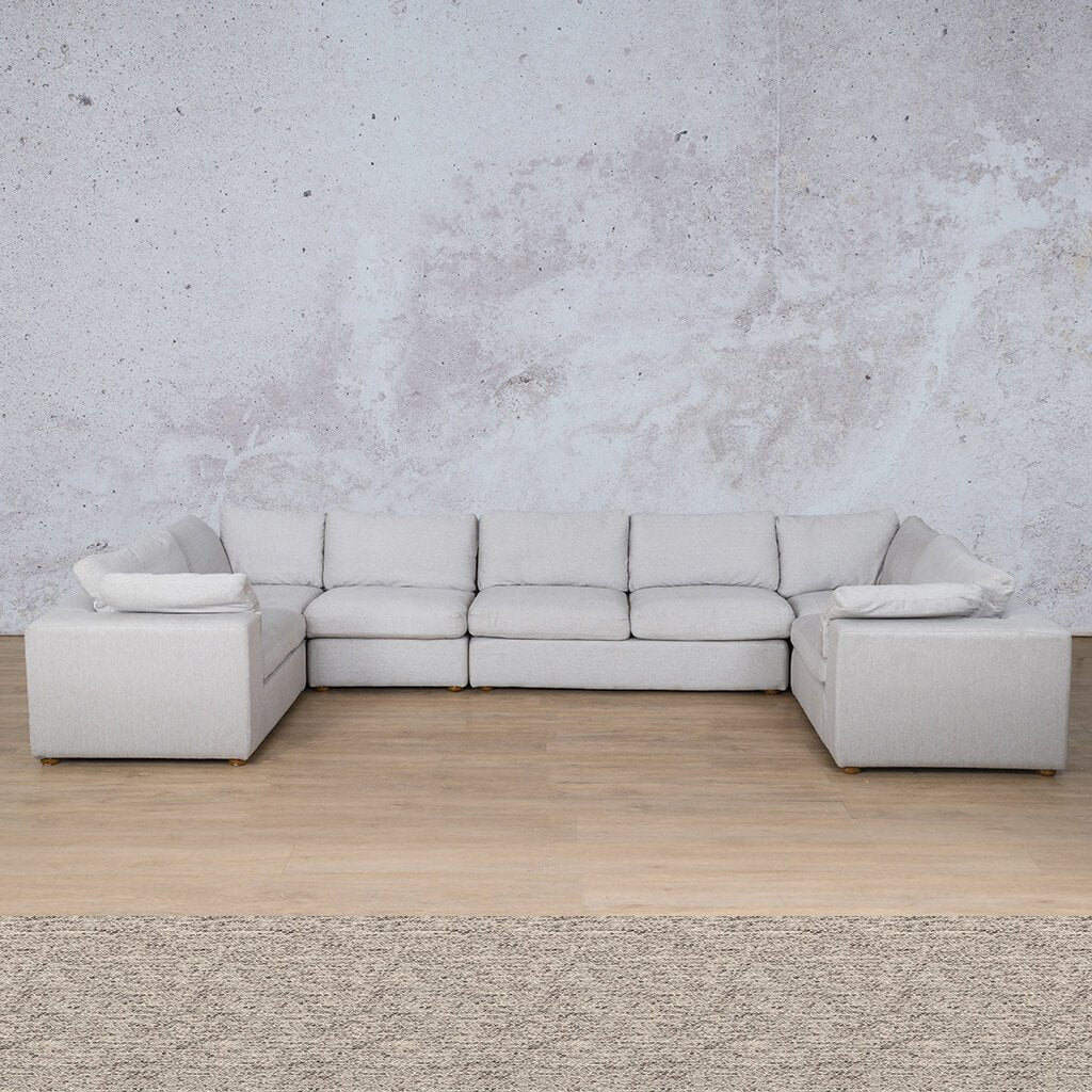 Skye Fabric Corner Couch | Modular U-Sofa Sectional | Pebble | Couches For Sale | Leather Gallery Couches