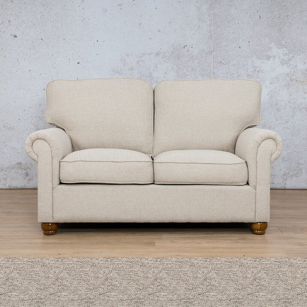 Salisbury Fabric  Couch | 2 Seater Couch | Couches for Sale | Pebble | Leather Gallery Couches