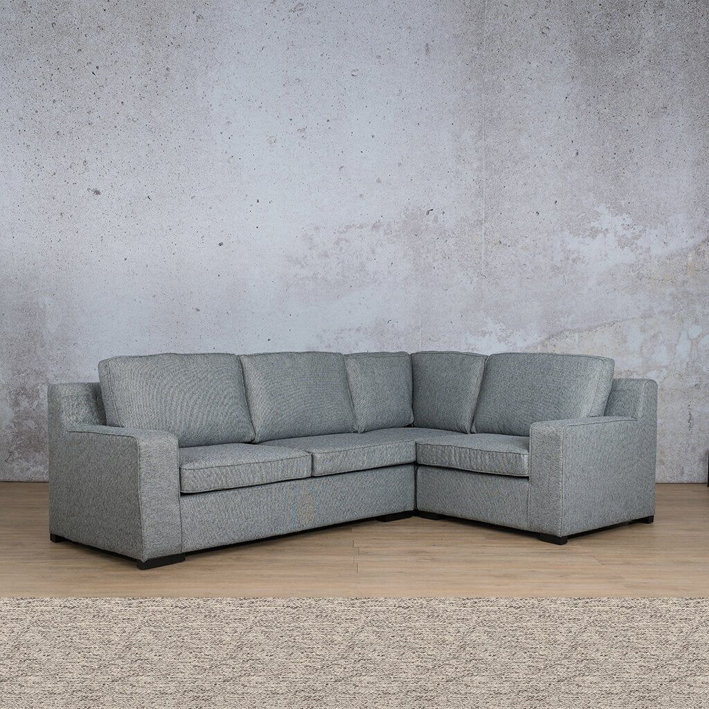 Arizona Fabric Couch | L-Sectional 4 Seater RHF | Pebble | Couches For Sale | Leather Gallery Couches