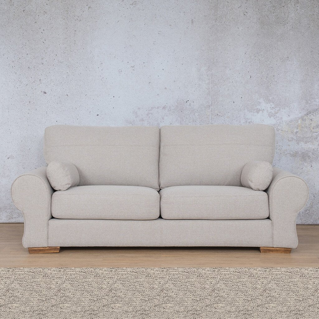 Carolina Fabric Couch | 3 seater couch | Pebble | Couches for Sale | Leather Gallery Couches