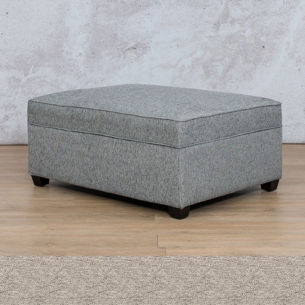 Arizona Fabric | Ottoman | Pebble | Leather Gallery