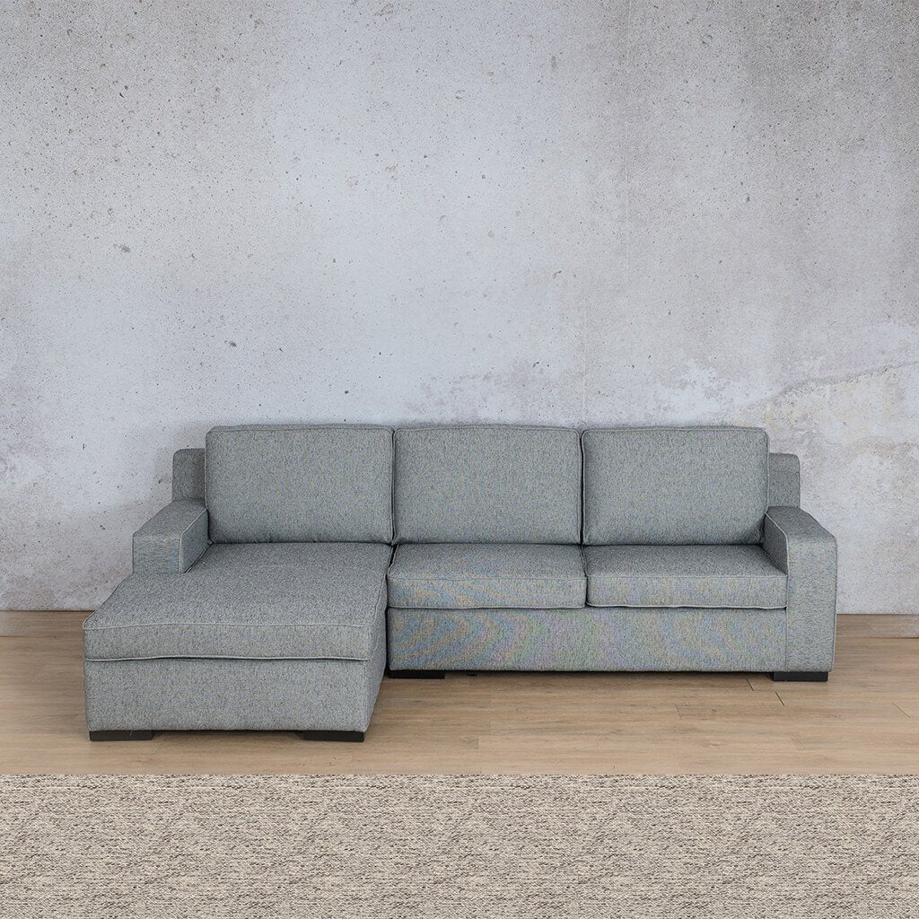 Arizona Fabric Corner Couch | Sofa Sectional-LHF | Pebble | Couches For Sale | Leather Gallery Couches